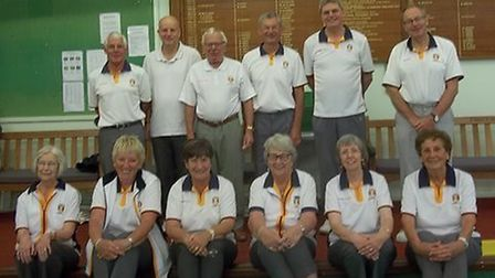 Sidmouth indoor bowlers at the start of a new campaign