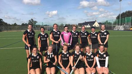 The Sidmouth and Ottery Hockey Club ladies 2nd XI team before their opening game of the new season