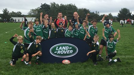 Sidmouth Under-11s who were unbeaten during the Land Rover Cup meeting at Exeter Chiefs