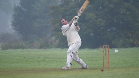 David Alrford in action for Tipton St John in their final match of the 2017 season
