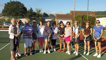Sidford Tennis Club members who took part in the charity event