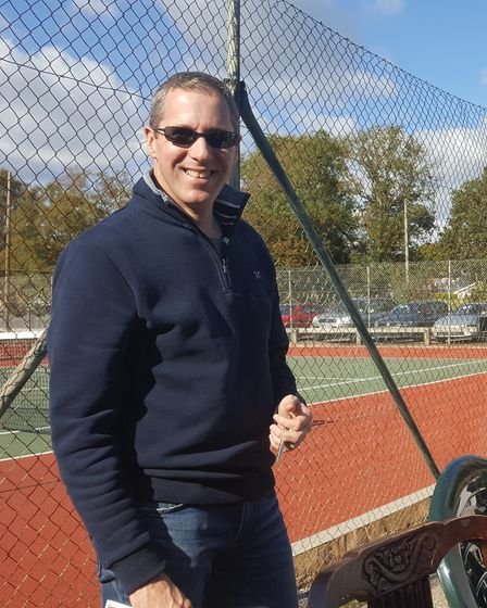 Paul Carter of Sidmouth who was the tournament referee at the Sidford Tennis Club event