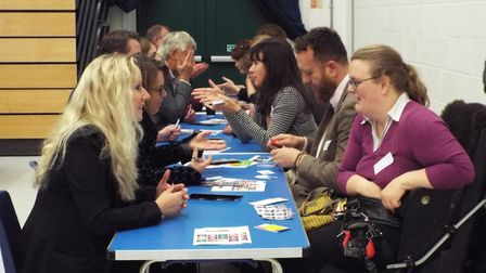 A speed networking event at Exmouth Means Business. Photo: Paul Strange.