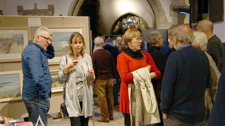 Art exhibition in the church. Picture: Eve Matthews