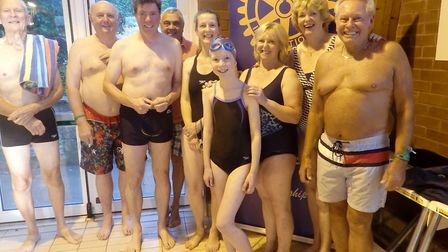Probus club members at the swimathon