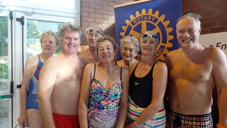 The parish church team at the swimathon