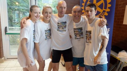 The Victoria Hotel team at the swimathon