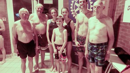 The Sid Valley Memory Cafe Memory Makers at the swimathon