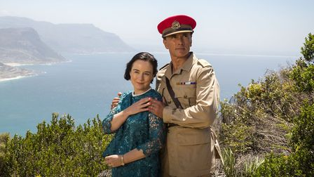 Amanda Drew as Mary Markham and Ben Miles as Major Harry Markham in Aden drama The Last post