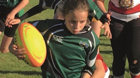 Sidmouth RFC girls rugby festival