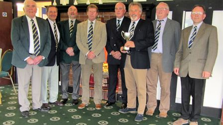 The Sidmouth East Devon Trophy winning the team