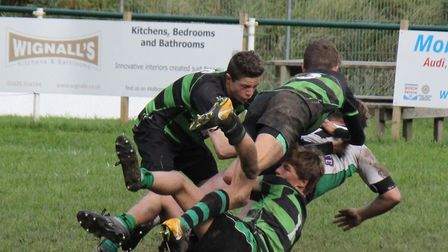 Action from the Withycombe Under-15s win over a Newton Abbot and Exmouth team.