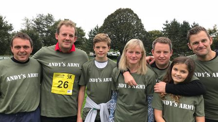 'Andy's Army' with Andy Cole's family