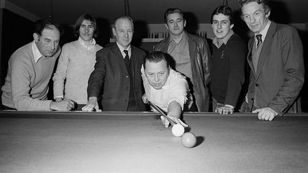 The War Memorial club snooker team. Ref shs Snooker team Nost 1980. Picture: Sidmouth Herald archive