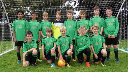 Sidmouth Warriors Under-12s at the start of the new season