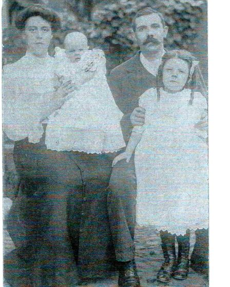 Frank Sowden, his wife Alice, daughter Hilda and son Frank
