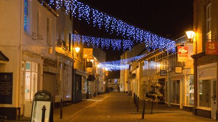 Sidmouth christmas lights. Ref shs 48-16TI 2600. Picture: Terry Ife