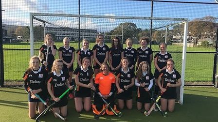 The Sidmouth and Ottery Hockey Club girl's Under-16 team