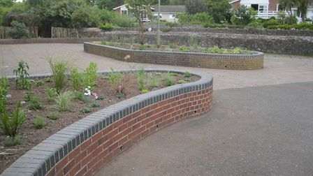 Sidmouth in Bloom volunteers have created a sensory garden on the Old Boat Park on the Ham.