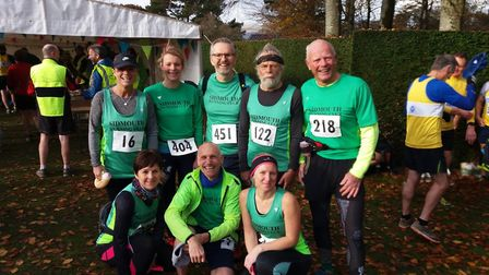 Sidmouth Running Club members at the Drogo 10