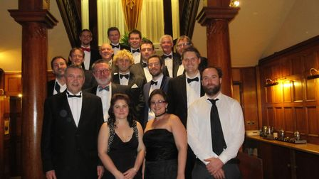 Modern-day members of Sidmouth Lifeboat at its first ever ball at the Victoria Hotel last year