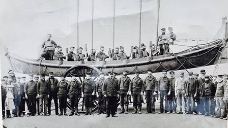 Sidmouth's old RNLI crew