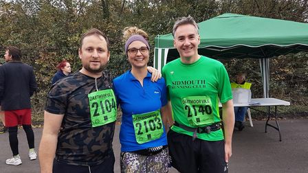 Sidmouth runners at the Dartmoor Vale meeting