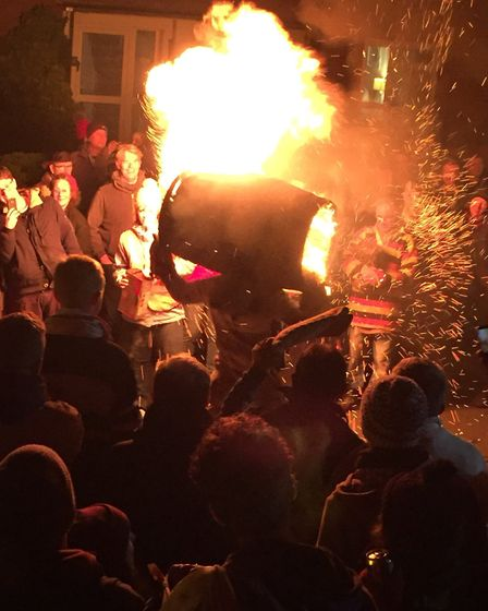 Scenes from the Tar Barrels in Otterly St Mary. Picture: Emma - @Embird83