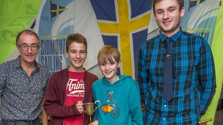 George Chapman (left) Toby Wells (middle) Oliver Moore-Jones (right) receive their prizes. Credit: C