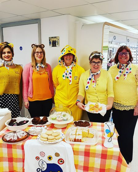 Staff at Boots Optician raised £103 for Children in Need with a bake sale