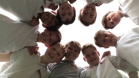 The Sidmouth College indoor cricket team