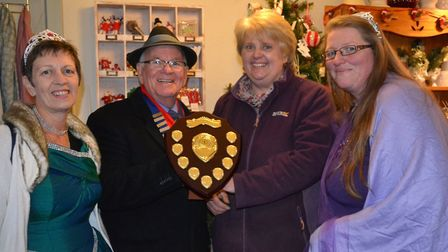 Dilly's Florist was the winner of the best shop window competition. CREDIT: Phyllis Baxter