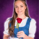Belle, played by Beth Adams, in Exeter Little Theatre Company's production of 'Beauty and the Beast'