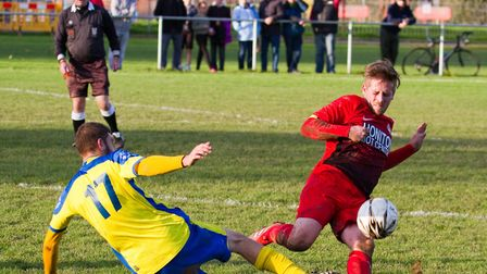 Sidmouth 2nds at home to Newton Poppleford 1st team. Ref shsp 45 17TI 3322. Picture: Terry Ife