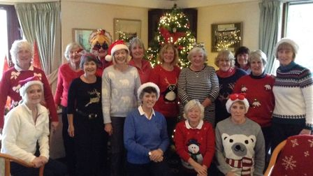 Sidmouth ladies enjoyed an excllent Christmas Cracker competition