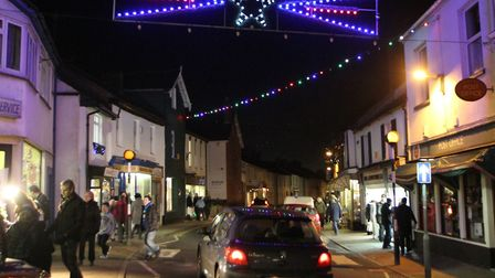 The Ottery Christmas lights. Picture by Alex Walton. Ref sho 8256-49-12AW. To order your copy of thi