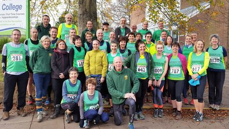 Sidmouth Running Club members at the Bicton Blister and Bicton Lite meeting