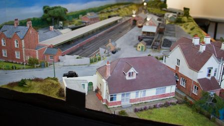 The opening of the Sidmouth model railway at Kennaway House. Ref shs 34 17TI 9655. Picture: Terry If