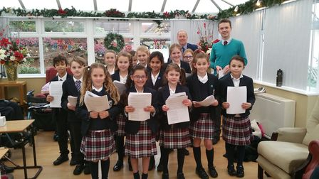 Pupils from St John's School sang for the residents at Sidmouth Residential and Nursing Home