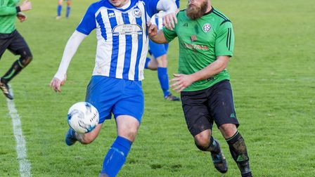 Action from the Ottery St Mary versus Otterton Macron League Division Three match.