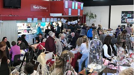 Crowds at the Sidmouth College Association Christmas far