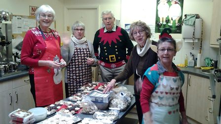 The team who helped put together all the hard kitchen work for the highly successful Christmas Socia