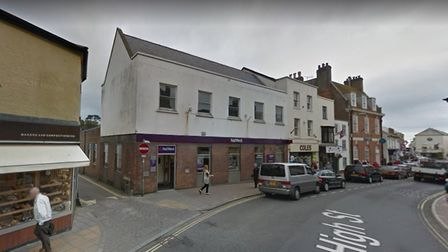 Sidmouth's NatWest bank will close next summer. Picture: Google