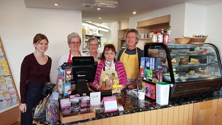 Staff and volunteers at Sidmouth's Mustard Seed cafe