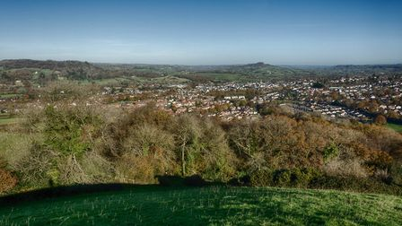 Looking across Honiton to St Cyres and Dumpton from Roundball Hill. Picture: Steve Mallon