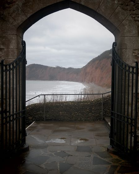 A perfectly framed view from the entrance to Connaught Gardens out over Jacob's Ladder, one of East