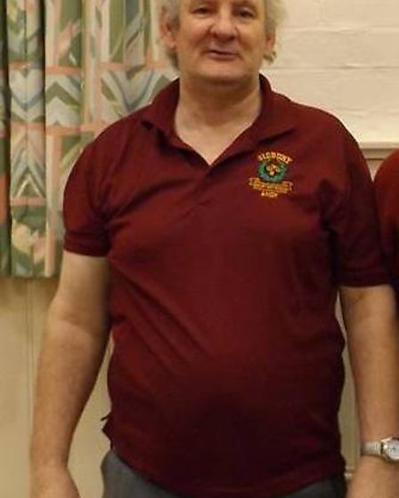 Sidmouth short mat bowler Andy Thompson