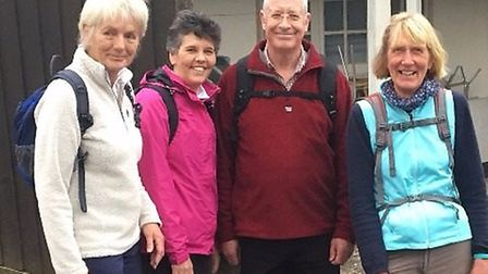 Sidmouth Golf Club captain Richard Powell joined the ladies captain, Maria Clapp and two past ladies