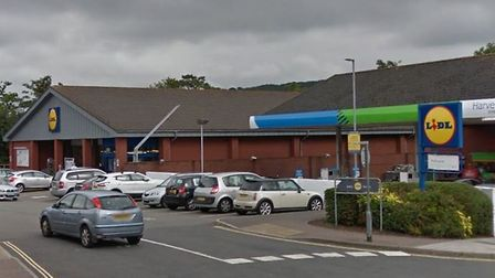 Lidl in Woolbrook Road, Sidmouth. Image from Google Maps