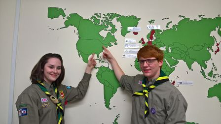 Emma Bateson and Rhys Johnson have been chosen to represent Devon at the 2019 Scout World Jamboree i